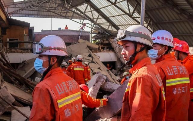 Al menos 29 muertos tras hundirse restaurante en China - Foto de EFE/EPA/JIN JI CHINA OUT.
