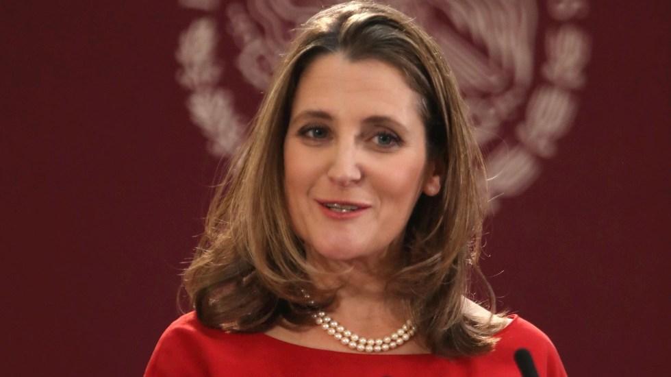 Freeland se convierte en la primera mujer al frente del Ministerio de Finanzas de Canadá - Chrystia Freeland Canadá