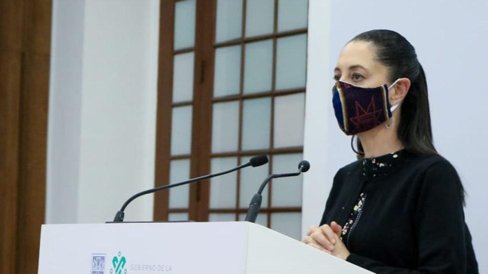 #Video Revela Claudia Sheinbaum que aportó dinero a movimiento social de AMLO - Claudia Sheinbaum en conferencia de prensa. Foto de @GobCDMX