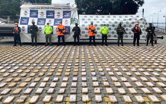 Incautan en el Pacífico más de una tonelada de cocaína para el CJNG - Cocaína que pretendía ser entregada al CJNG. Foto de EFE