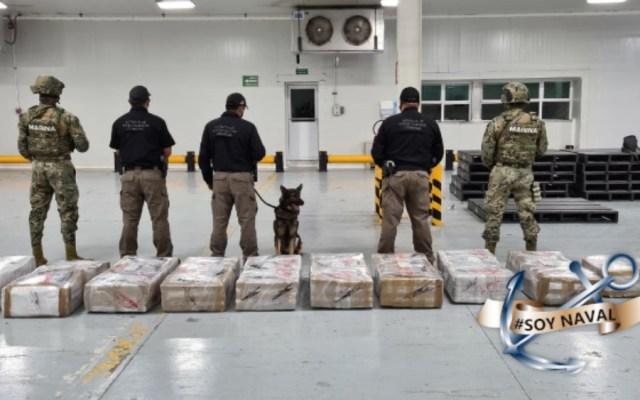 Decomisan 678.4 kilos de cocaína en el puerto de Manzanillo, Colima - Foto de Semar
