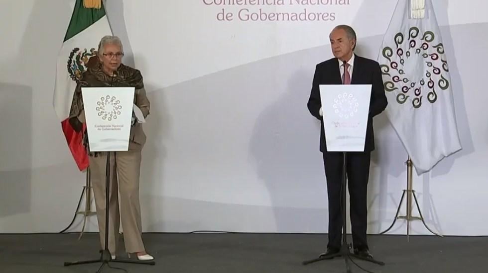 Nuestro pluralismo nos fortalece, asegura Sánchez Cordero; destaca diálogo y acuerdos tras reunión con gobernadores - Captura de pantalla