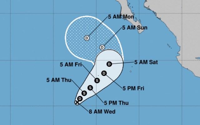 Depresión tropical Catorce-E se forma en el Pacífico; será tormenta tropical en las próximas horas - Foto de @NHC_Pacific