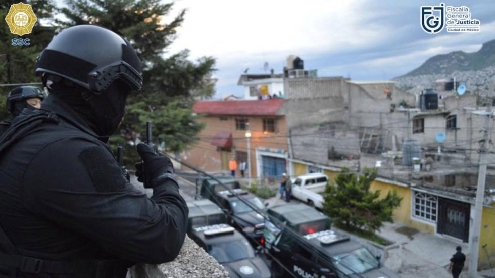 Detienen a 17 personas y aseguran ocho inmuebles en GAM, confirma García Harfuch - Foto de Twitter Omar García Harfuch