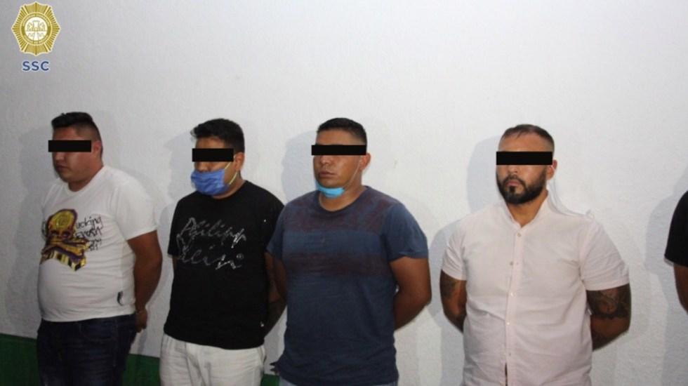 Detienen a ocho presuntos miembros de La Unión Tepito en el Centro Histórico - Foto de SSC