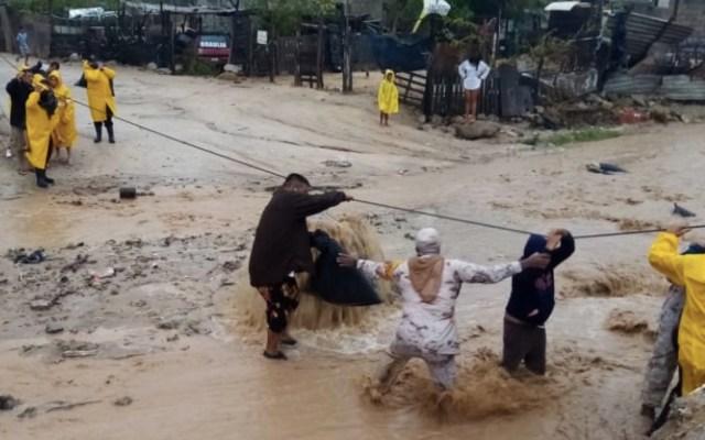 Genevieve mantiene lluvias fuertes en la Península de Baja California; activan Plan DN-III-E - Foto de Sedena