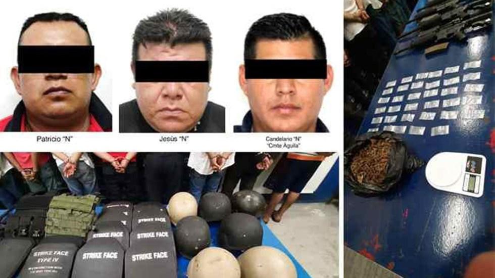 Detienen en Veracruz a jefe policial por presuntos nexos con el narcotráfico - Jefe policial y dos oficiales detenidos en Veracruz por presuntos nexos con el narcotráfico. Foto de @SP_Veracruz