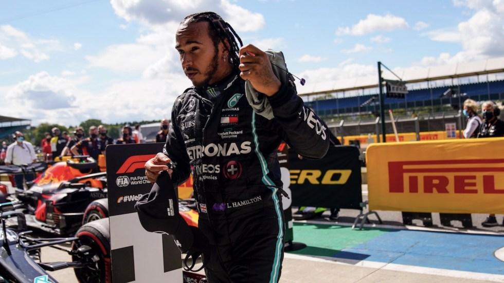 Lewis Hamilton obtiene pole position en el Gran Premio de Gran Bretaña y rompe récord en la F1 - Foto de EFE