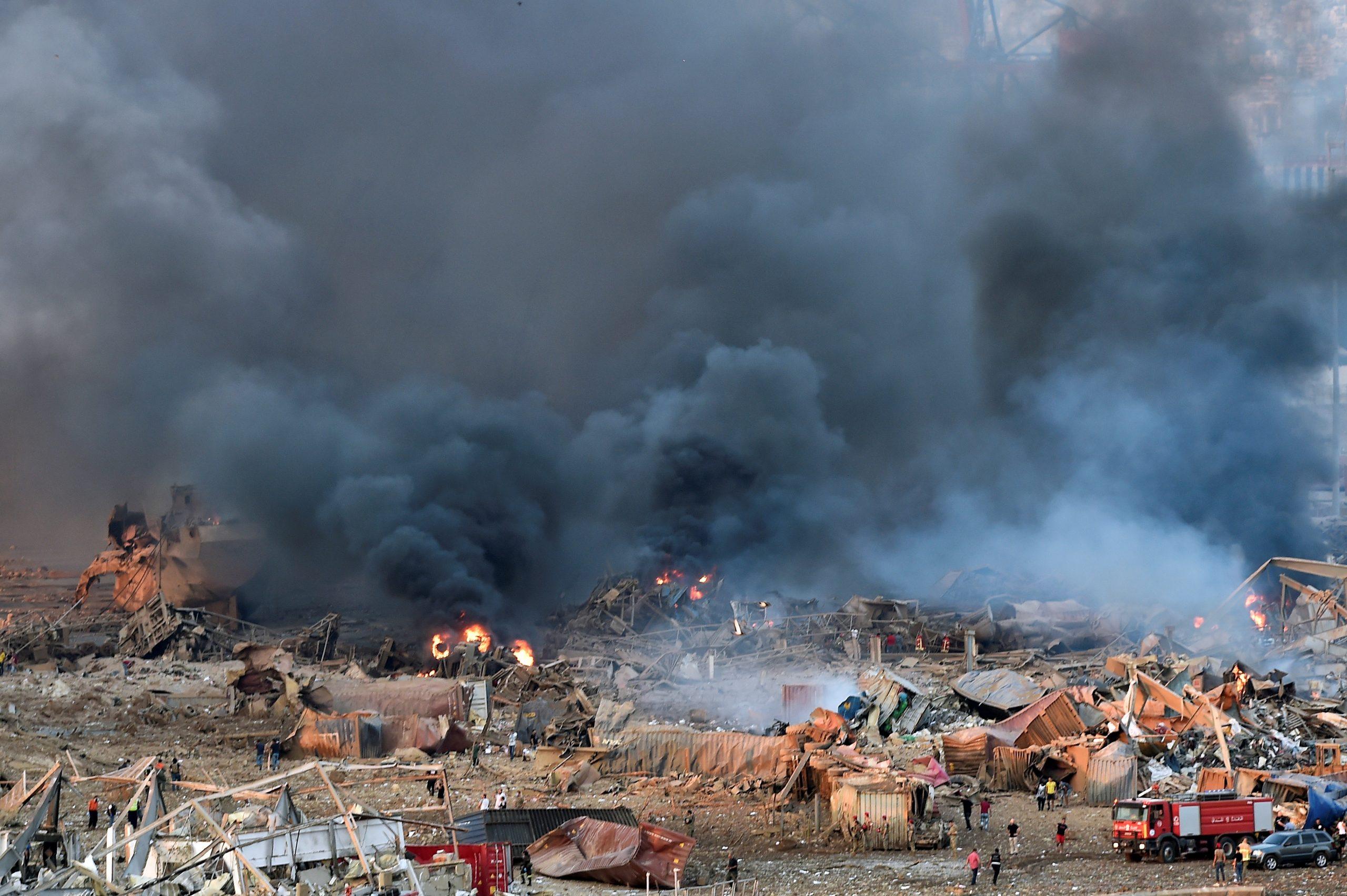 Explosión en Líbano. Foto de EFE/ EPA/ WAEL HAMZEH.