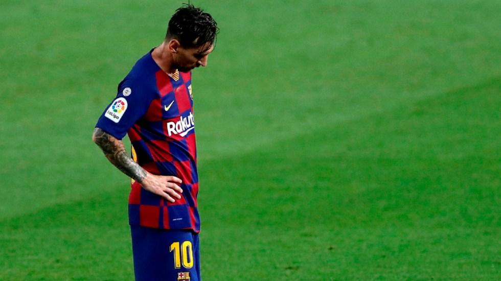 Messi solicita al Barcelona su salida del club - Foto de EFE