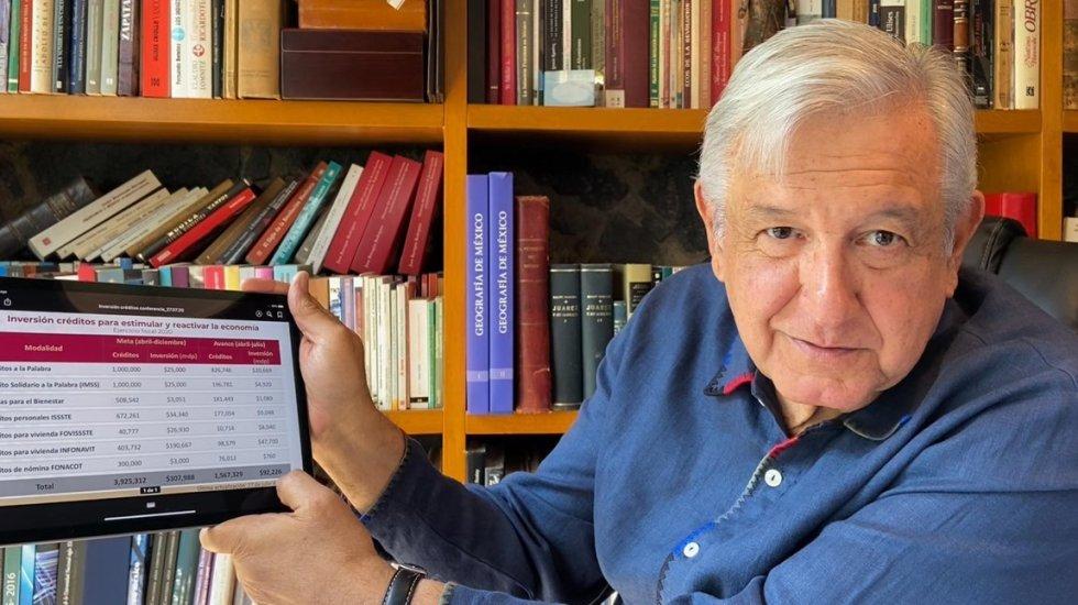 "#EnVivo ""Vamos a salir adelante, somos optimistas"", asegura AMLO sobre crisis económica - Andrés Manuel López Obrador. Foto de @lopezobrador_"