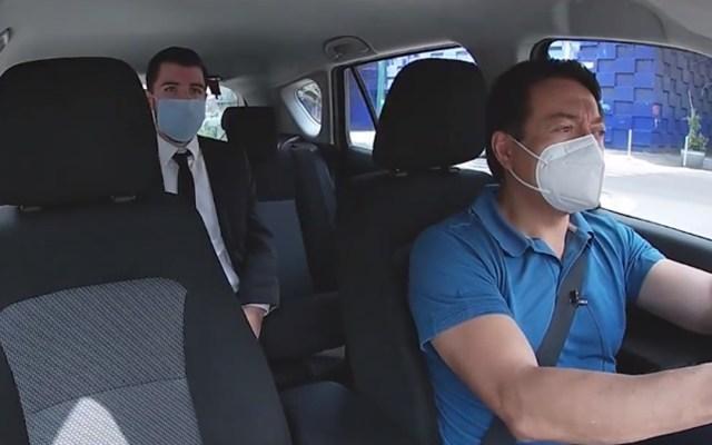 #Video Mario Delgado se hace pasar por conductor; conoce opinión de la gente sobre Morena y la 4T - Mario Delgado como taxista. Foto de @mariodelgadocarrillo