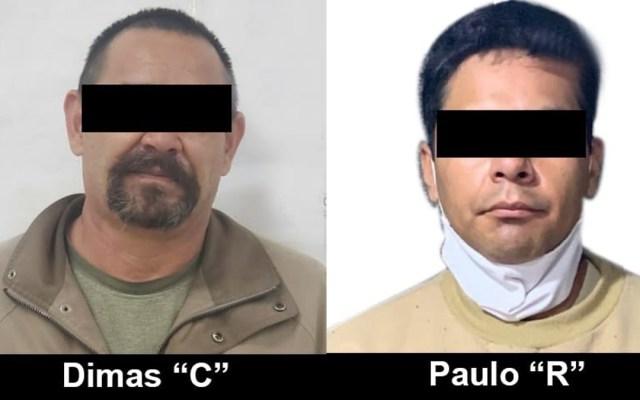 FGR entrega en extradición a dos mexicanos reclamados por autoridades en EE.UU. - Mexicanos extraditados a EE.UU. Foto de FGR