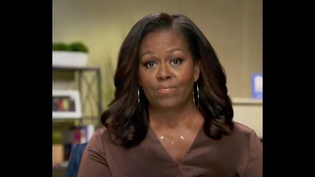 """Michelle Obama sobre Trump: """"No puede ser la persona que los estadounidenses necesitan"""" - Michelle Obama. Captura de Pantalla."""