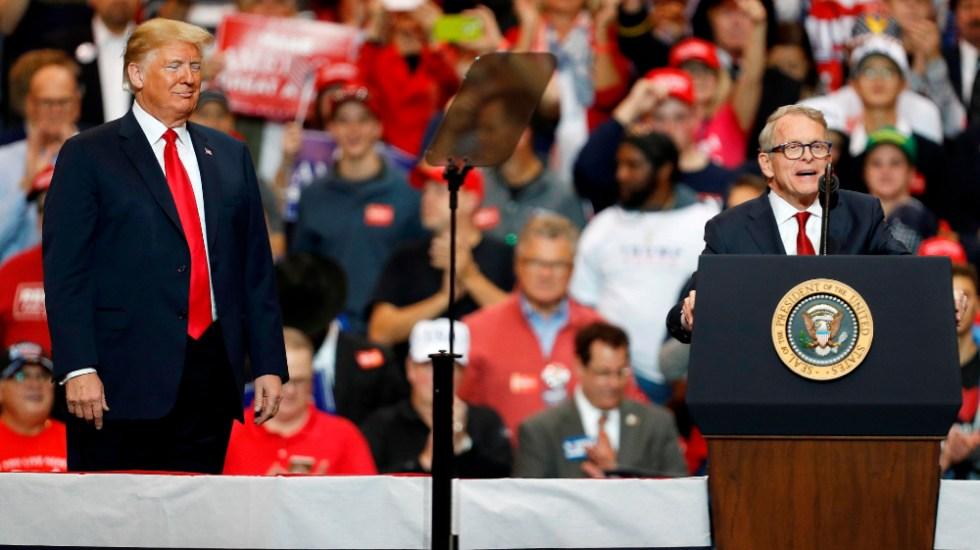 Gobernador de Ohio da positivo por COVID-19 antes de recibir a Trump - Foto de EFE