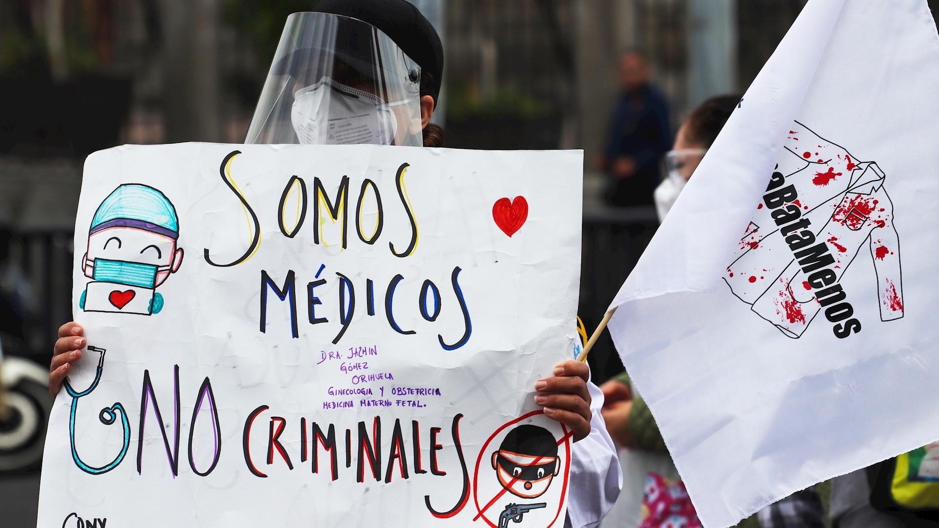 Personal de Salud México protesta Ciudad de México