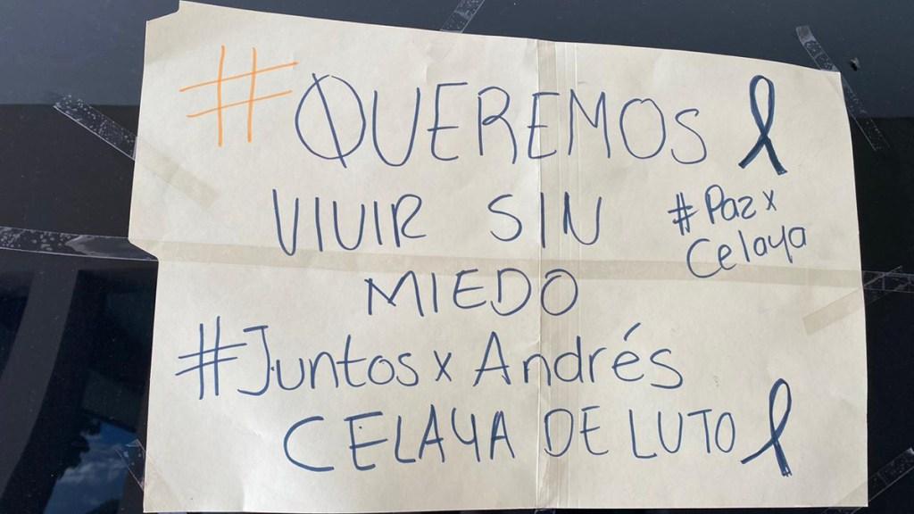Vinculan a proceso a presunto asesino de empresario en Celaya - Protesta por homicidio del empresario Andrés Fernández Quintana en Celaya. Foto de López-Dóriga Digital