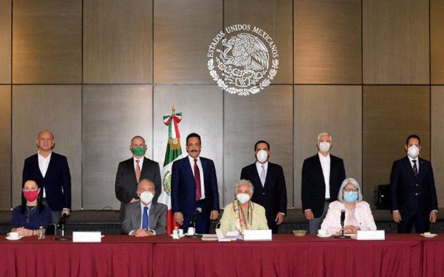 Gobierno Federal y estados acuerdan trabajo coordinado frente a COVID-19 - Reunión Gobierno Federal y estados. Foto de @M_OlgaSCordero