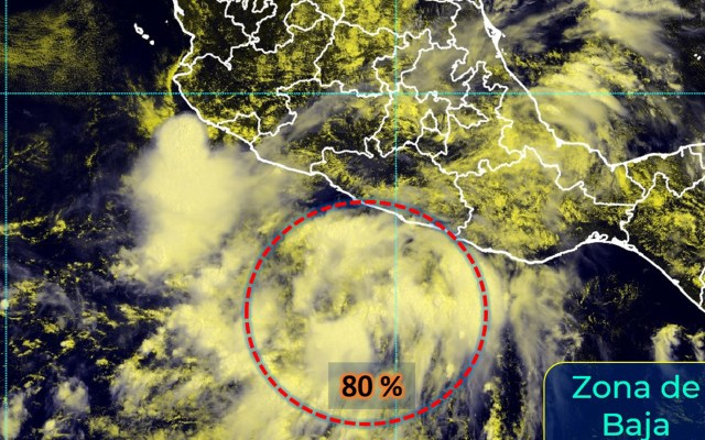 Zona de Baja Presión en el Pacífico tiene 80% de potencial ciclónico; gobierno de Guerrero pide tomar precauciones - Así la evolución de la Zona de Baja Presión que ha puesto alerta en Guerrero. Foto de Conagua.