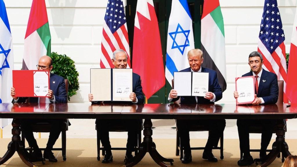 Israel, EAU y Baréin firman los Acuerdos de Abraham en la Casa Blanca - Foto de EFE