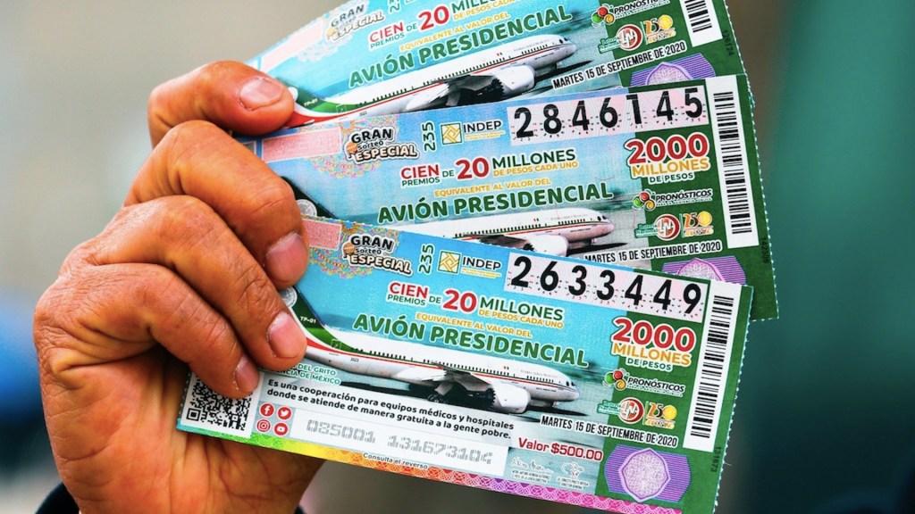 Se vendió el 78 por ciento de 'cachitos' por sorteo del Avión Presidencial: Lotenal - Foto de EFE