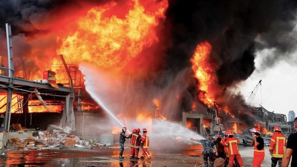 #Video Nuevo incendio en el puerto de Beirut, semanas después de la devastadora explosión - Foto de EFE