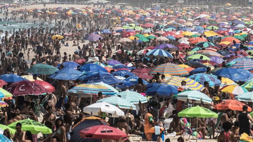 Playas de Río de Janeiro lucen repletas de bañistas en medio del desconfinamiento - Brasil playas Rio de Janeiro COVID-19
