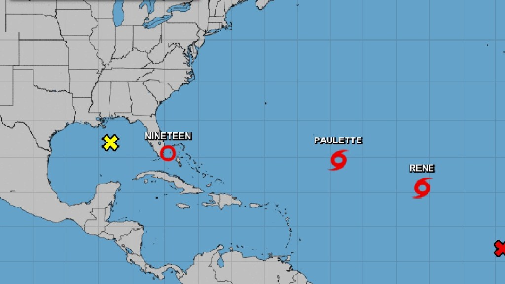 Amenazan tres ciclones en el Atlántico a Estados Unidos - Ciclones en el Atlántico. Foto de NHC