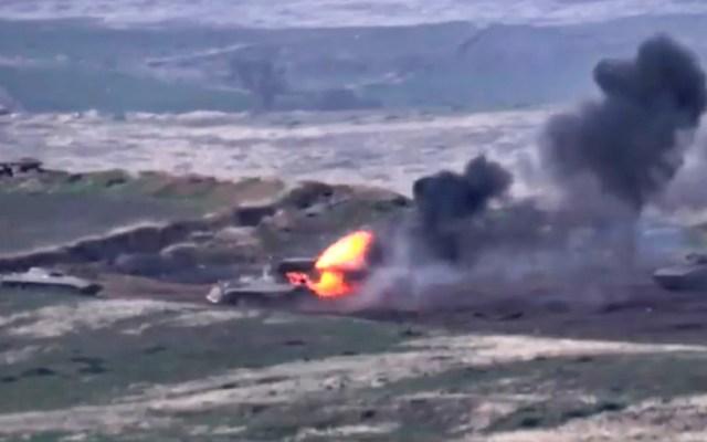 Armenia y Azerbaiyán al borde de una guerra a gran escala por Nagorno Karabaj - Conflicto Armenia-Azerbaiyán. Foto de EFE