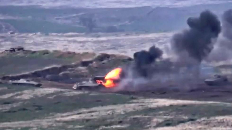 Armenia denuncia que Azerbaiyán declaró la 'guerra' tras ataque a su Ejército - Conflicto Armenia-Azerbaiyán. Foto de EFE