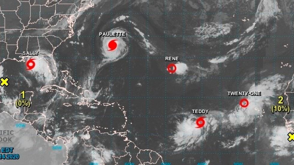 Congestión de depresiones, tormentas y huracanes en la cuenca atlántica - Foto de EFE