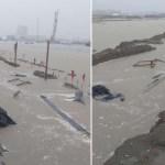 Fuertes lluvias inundan Dos Bocas; a la media hora se seca, afirma Rocío Nahle