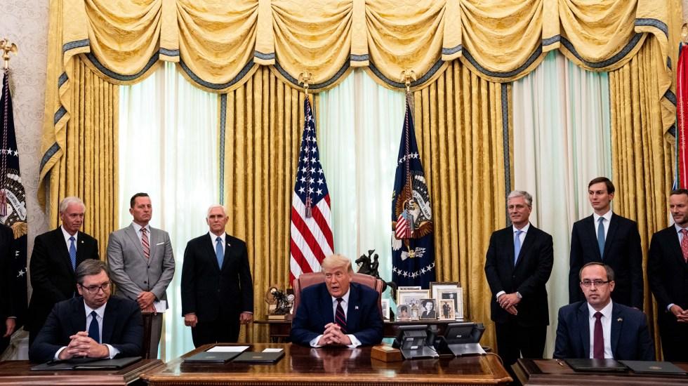 Normalizan Serbia y Kosovo sus relaciones económicas con EE.UU. como mediador - El Gobierno de EE.UU. fungió como mediador para que Serbia y Kosovo restablecieran sus relaciones económicas. Foto de EFE