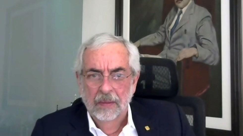 """Mantiene UNAM """"espíritu intacto"""" ante pandemia, afirma el rector Graue - Enrique Graue, rector de la UNAM. Captura de pantalla"""