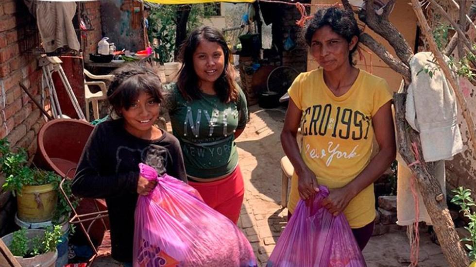 Universidad Anáhuac se suma a iniciativa para otorgar despensas a familias afectadas por crisis del COVID-19 - Beneficiarias del programa Familias Sin Hambre. Foto de Cáritas Mexicana