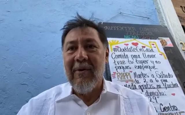 """#Video """"¿Cómo el poder te puede doblar a tal grado?"""", cuestiona Fernández Noroña a AMLO por respaldar al PRI en San Lázaro - Gerardo Fernández Noroña. Captura de pantalla"""