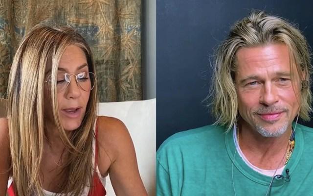 #Video El reencuentro de Brad Pitt y Jennifer Aniston - Captura de pantalla
