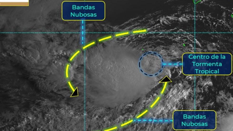 Se forma la tormenta tropical Karina al suroeste de Baja California Sur - Karina tormenta tropical México Baja California Sur