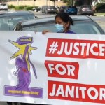Trabajadores de limpieza exigen mejorar condiciones laborales por pandemia en Los Ángeles