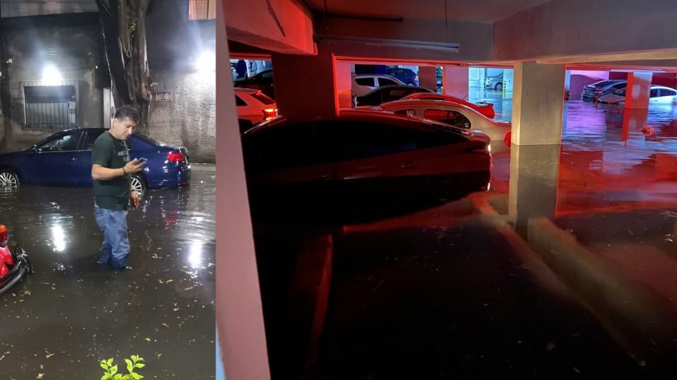 Segundo día de históricas lluvias en CDMX. El agua salía de las coladeras y el Metro Zapata bajo el agua - Lluvias Ciudad de México 170920201