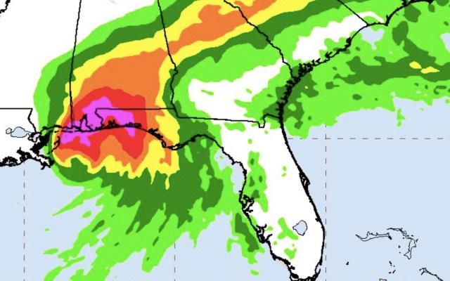 Sally mantiene lento paso rumbo a la costa de EE.UU.; advierten por posible inundación histórica - Foto de NHC