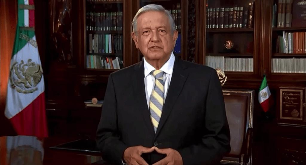 #Video AMLO envía felicitación por los 75 años de la ONU; destaca discurso de las 'cuatro libertades' de Franklin D. Roosevelt - El presidente López Obrador durante su mensaje. Captura de Pantalla.