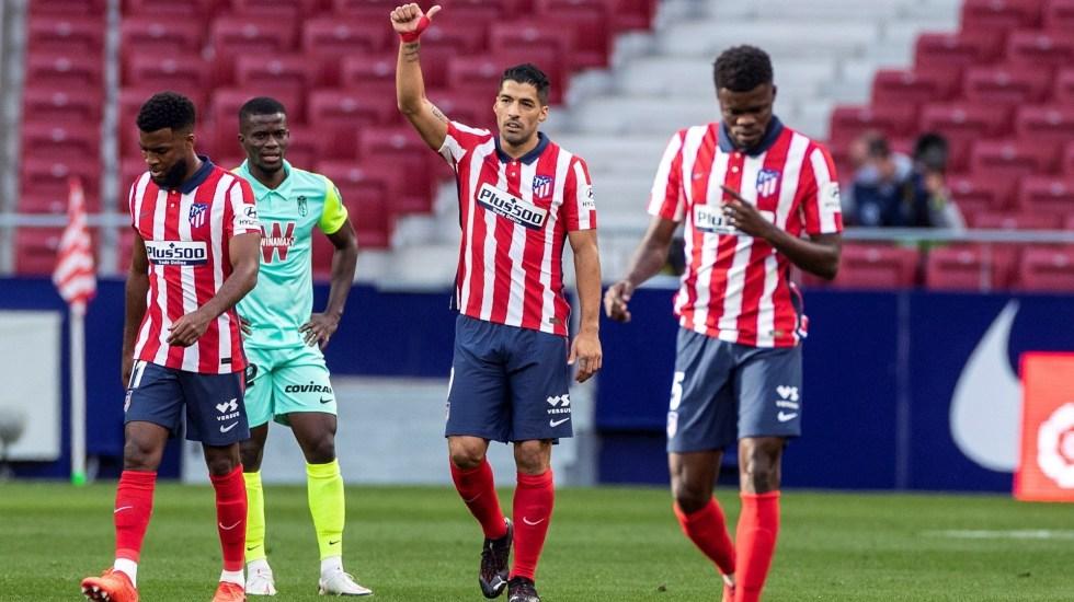 Doblete de Luis Suárez en goleada del Atlético contra Granada - Luis Suárez Atlético Madrid Granada Goleada