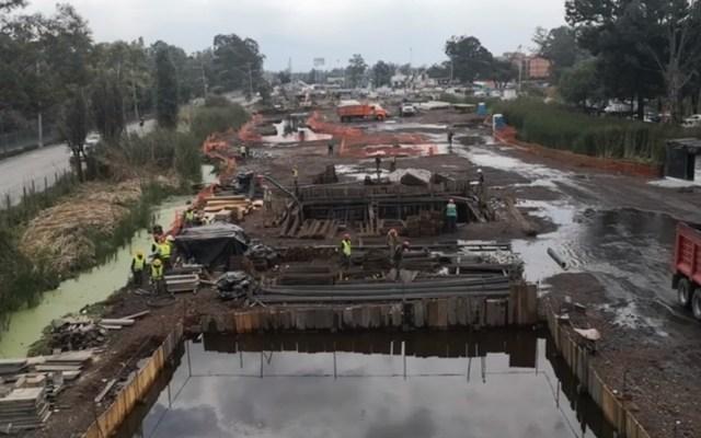 Realizarán dos rodadas ciclistas y una marcha contra obra en humedal de Xochimilco - Obras en humedal de Xochimilco. Captura de pantalla