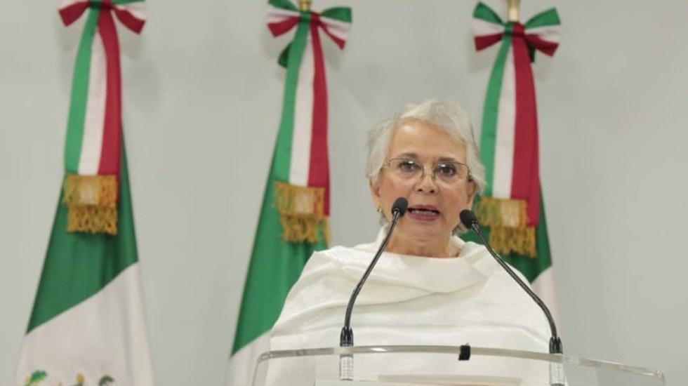 AMLO no enviará este año iniciativa preferente al Congreso, confirma Sánchez Cordero - Olga Sánchez Cordero. Foto de @M_OlgaSCordero