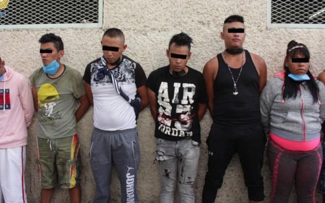 Detienen a presuntos miembros de 'Los Dulceros', banda dedicada al asalto en transporte público - Presuntos miembros de 'Los Dulceros'. Foto de SSC-CDMX