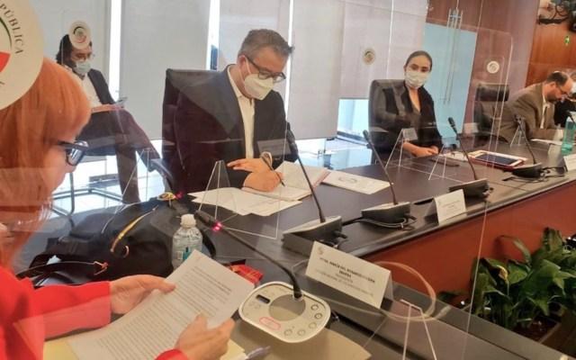 Rosario Piedra acude al Senado; no llega a ningún compromiso por CNDH - Foto de Twitter Kenia López Rabadán