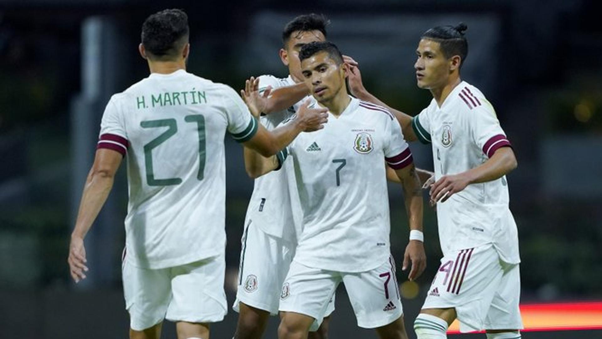 La selección mexicana goleó este miércoles por 3-0 a Guatemala. Foto Twitter @miseleccionmx