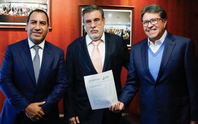 Recibe Senado solicitud de López Obrador para realizar consulta sobre juicio a expresidentes - Foto de Ricardo Monreal