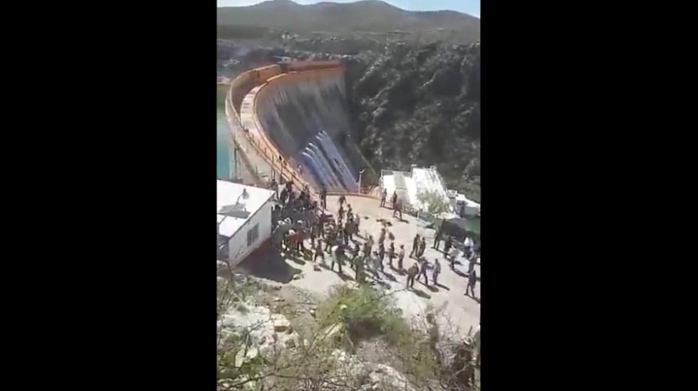 Ve AMLO intereses políticos-electorales en la toma de presa La Boquilla, en Chihuahua - Foto de @kabrakan